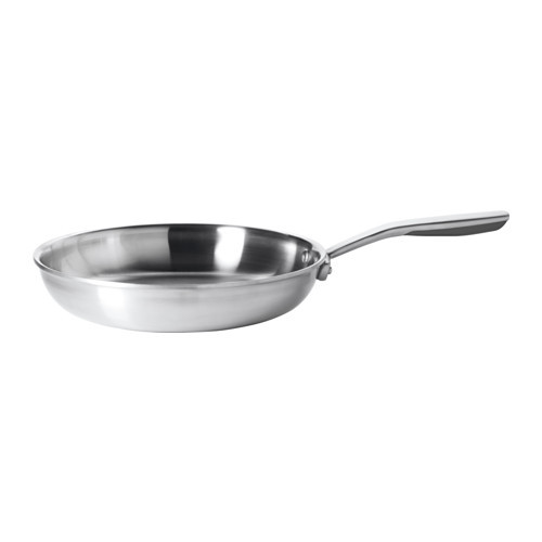 SENSUELL Frying pan, stainless steel, gray
