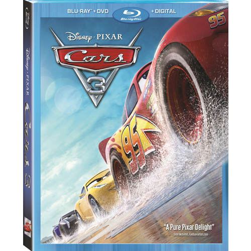 Disney Pixar Cars 3 Blu-Ray Combo Pack (Blu-Ray/DVD/Digital HD)