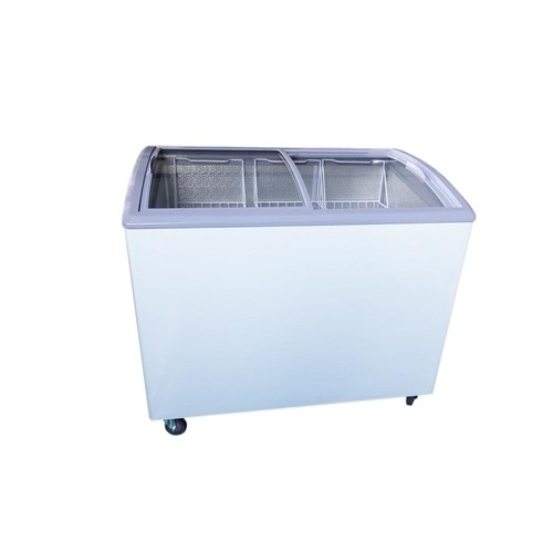 PREMIUM 7.4 cu. ft. Chest Freezer with Curved Glass Top in White