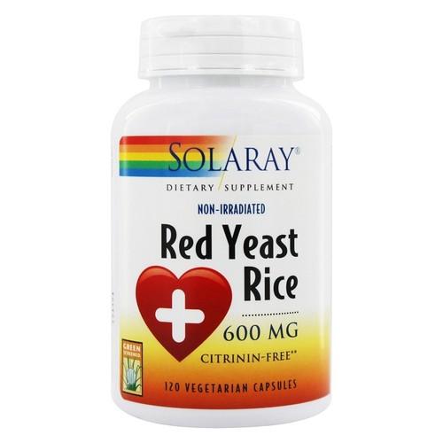 Solaray - Red Yeast Rice 600 mg. - 120 Vegetarian Capsules