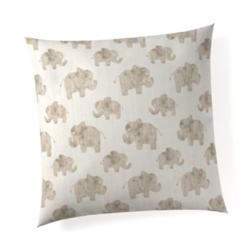 Glenna Jean Elephant Herd Throw Pillow in Natural