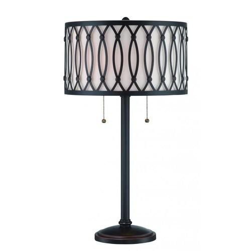 Filament Design 25.5 in. 2-Light Dark Bronze Table Lamp