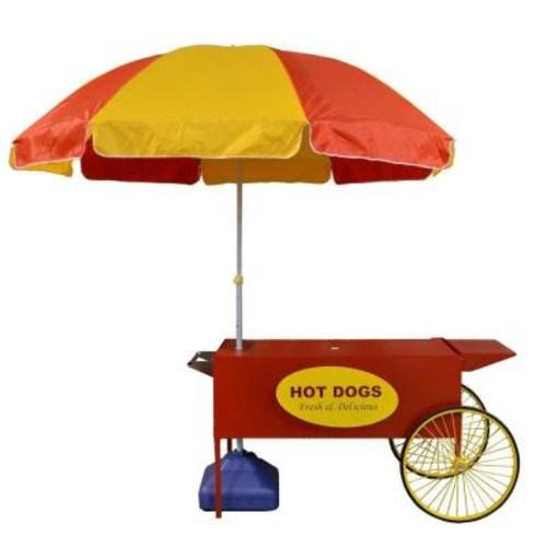 Paragon Large Hot Dog Cart and Umbrella Stand
