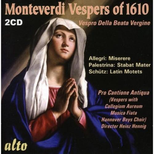 Claudio Monteverdi: Vespers of 1610 [CD]
