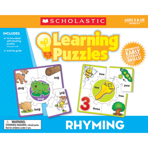 Scholastic Teaching Resources Rhyming Learning Puzzles