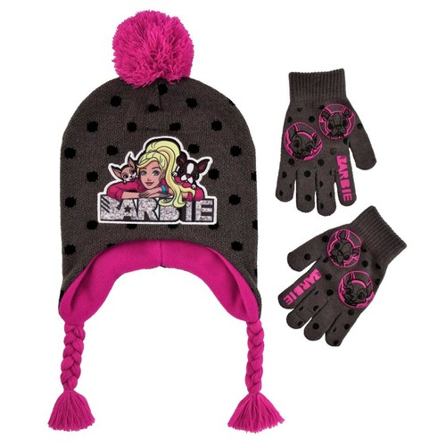 Barbie Rib Knit Cuff Hat and Glove Set