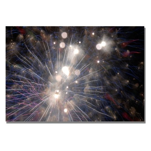 Abstract Fireworks 33 by Kurt Shaffer, 18x24-Inch Canvas Wall Art [18 by 24-Inch]