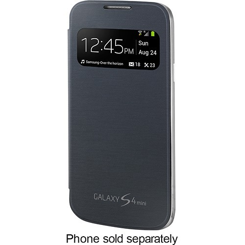 Samsung - S-View Cover for Samsung Galaxy S 4 Mini Cell Phones - Black