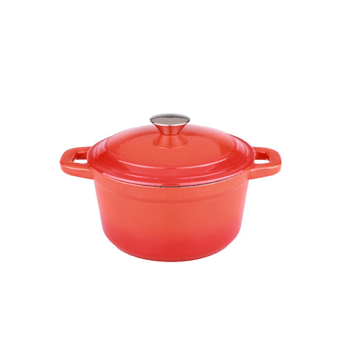 BergHOFF Neo 3qt Cast Iron Round Covered Dutch Oven Orange
