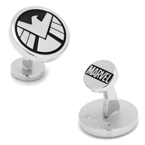 Marvel Silvertone Round Agents of SHIELD Cufflinks