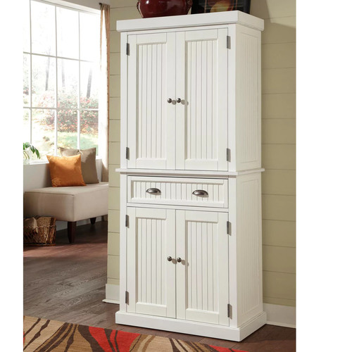 Home Styles 5022-69 Nantucket Pantry, Distressed White Finish [Distressed White, 30 inches]