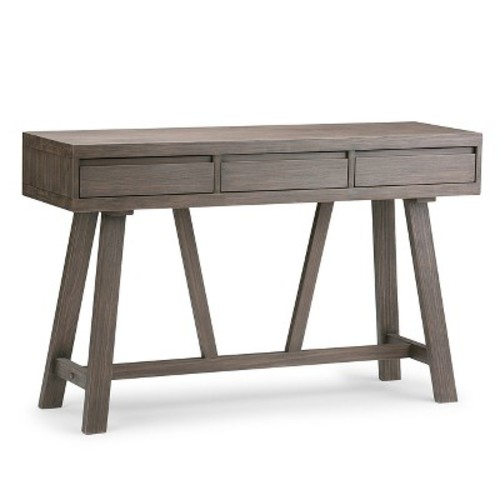 Simpli Home Dylan Driftwood Storage Console Table