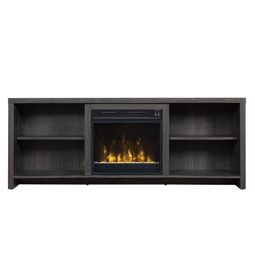 Classic Flame Shelter Cove 59.5 in. Media Console Electric Fireplace in Black Walnut