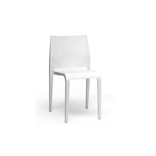 Baxton Studio Blanche White Molded Plastic Modern Dining Chair
