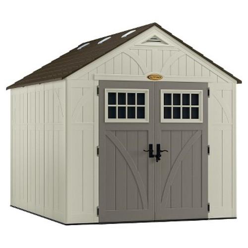 Resin Tremont Storage Shed 8' X 10' - Vanilla/Gray - Suncast