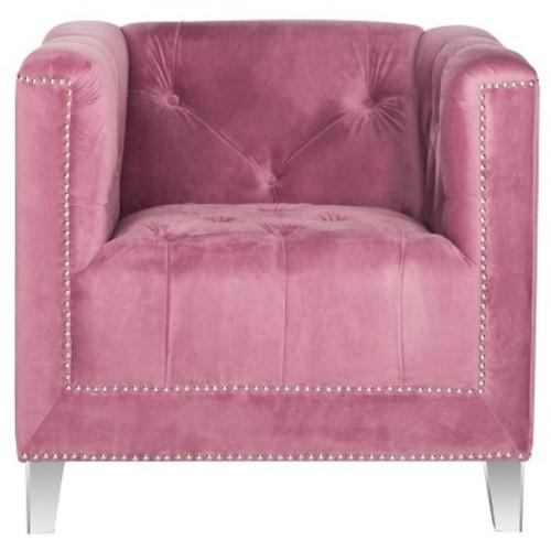 Hollywood Glam Tufted Acrylic Leg Club Chair - Safavieh