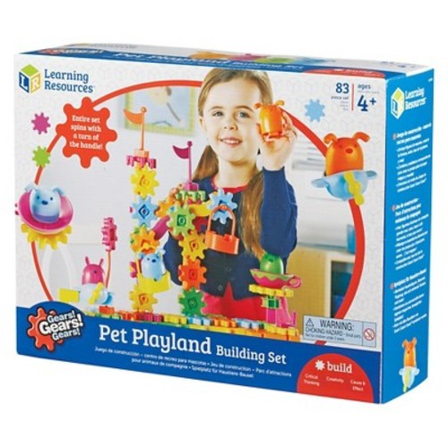 Learning Resources Gears! Gears! Gears! Pet Playland Building Set 83 Pieces