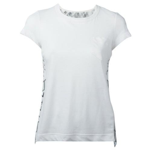 SACAI Open Back Scarf Print T-Shirt