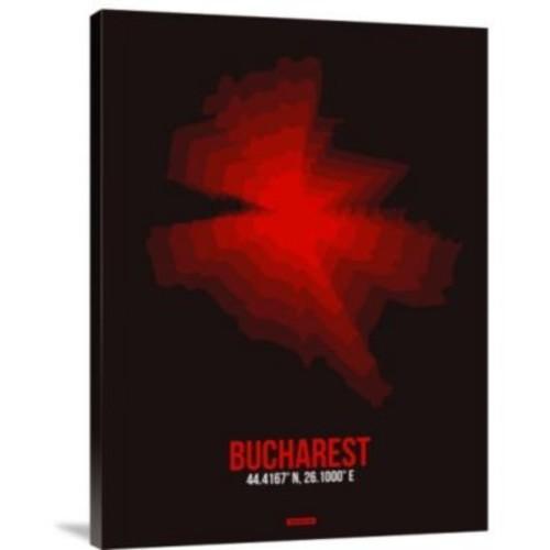 Naxart 'Bucharest Radiant Map 4' Graphic Art Print on Canvas; 16'' H x 12'' W x 1.5'' D