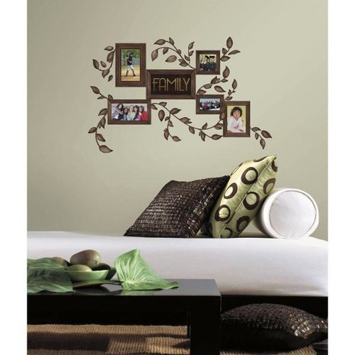 RoomMates 5 in. x 11.5 in. Family Frames Peel and Stick Wall Decals