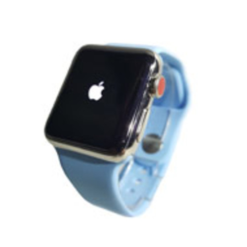 Apple Watch Series 3 38mm Steel Frame - GPS & LTE (Silver with Blue) [Pre-Owned]