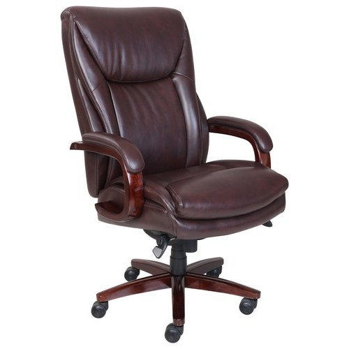 La-Z Boy - Big & Tall Bonded Leather Executive Chair - Coffee Brown