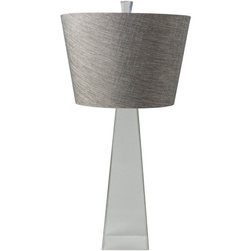 La Rochelle Table Lamp with Glass Base - Silver