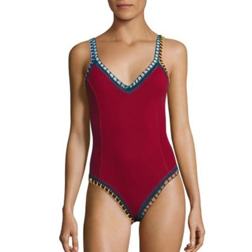 Soley Crocheted One-Piece Maillot