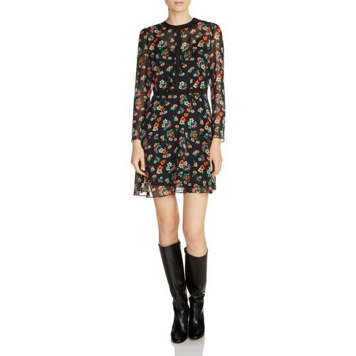 MAJE Rayon Floral Print Dress