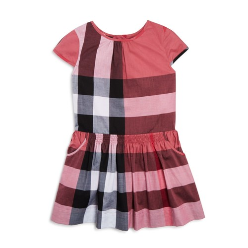 BURBERRY Girls' Judie Drop Waist Check Dress - Sizes 4-14