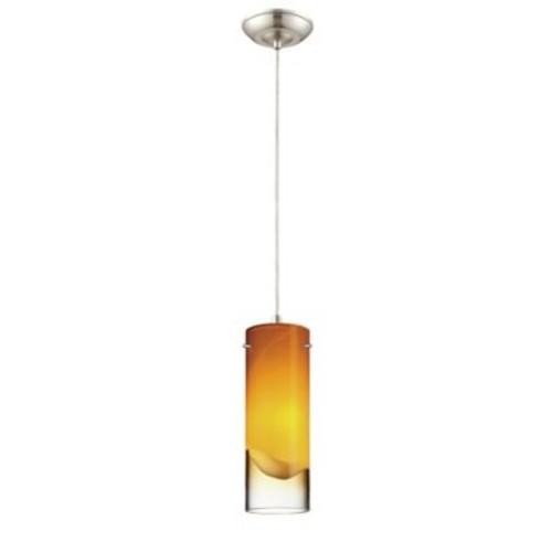 Philips Crete 1-Light Mini Pendant; Amber