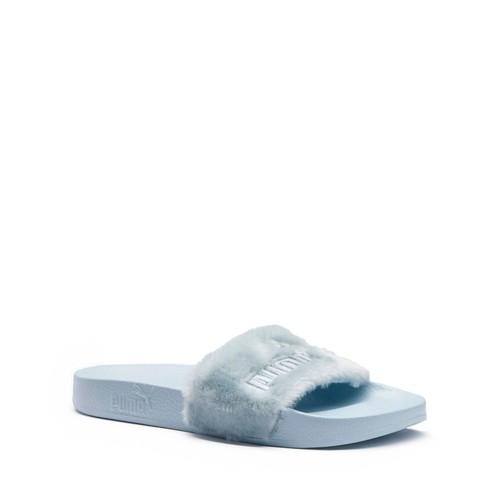 FENTY PUMA X RIHANNA Women'S Faux Fur Pool Slide Sandals