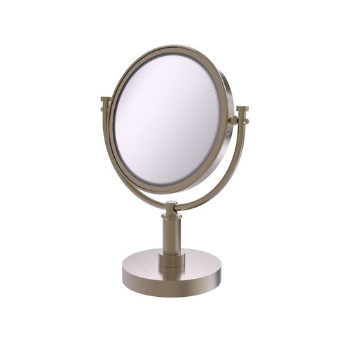 Allied Brass 15 in. x 8 in. Vanity Top Make-Up Mirror 4x Magnification in Antique Pewter
