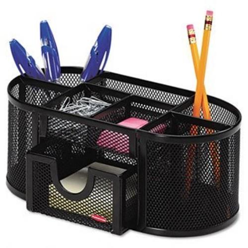 Rolodex Mesh Oval Pencil Cup Organizer ORGANIZER,MESH PENCIL,BK (Pack of5)