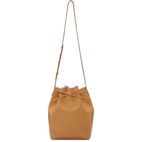 Tan Leather Bucket Bag