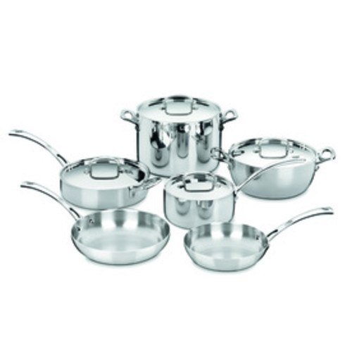 Cuisinart 10-Piece French Classic Stainless Steel Cookware Set with Lids