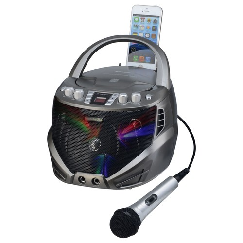 Karaoke USA Portable CDG Karaoke Player with Flashing LED Lights