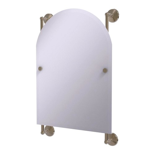 Allied Brass Monte Carlo Arched Top Frameless Rail Mounted Mirror in Antique Pewter
