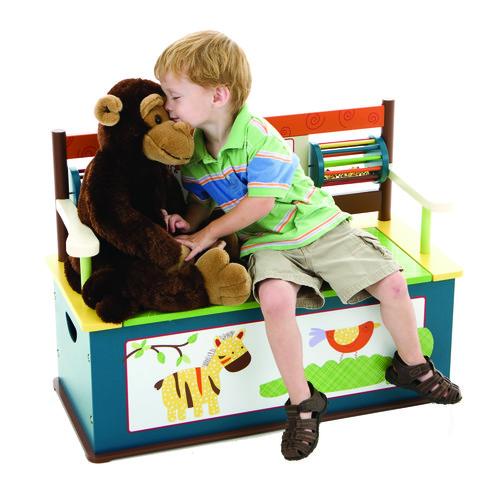 Wildkin Jungle Jingle Bench Seat w/ Storage