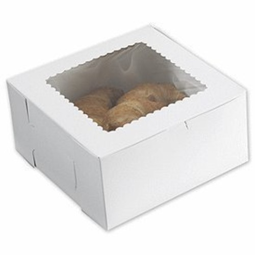 Deluxe Small Business Sales 1015W-126 10 x 10 x 5 in. Windowed Bakery Boxes, White