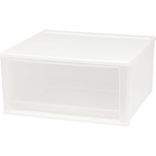 IRIS 51 Quart Stacking Drawer, 2 Pack, White [White, 51-Quart]