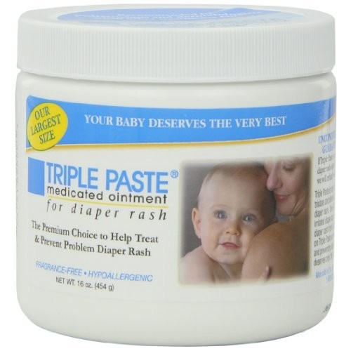 Triple Paste Medicated Ointment for Diaper Rash, 16-Ounce [16oz.]