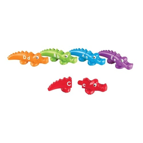 Learning Resources Snap-N-Learn Alphabet Alligators, 26 Pieces