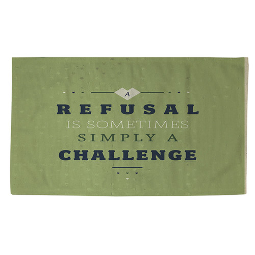Refusal Equals Challenge Rug (2' x 3')