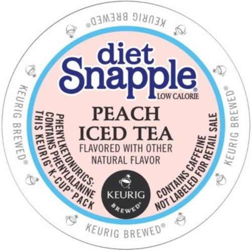 Keurig Snapple Diet Peach Iced Tea K-Cups, 22 K-Cups/Pack (6622)