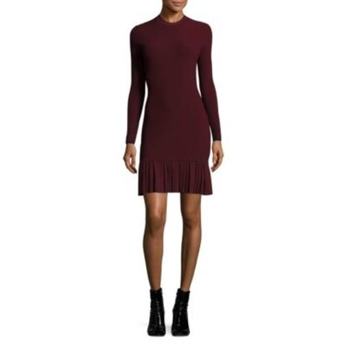 3.1 PHILLIP LIM Pleated Rib-Knit Dress