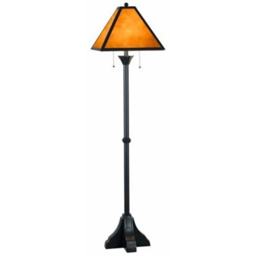 Kenroy Home Miles 2-Light Floor Lamp in Bronze