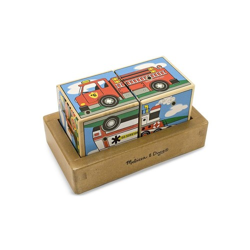 6 Pack MELISSA & DOUG VEHICLE SOUND BLOCKS