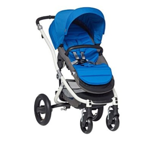 Britax Affinity White Stroller with Sky Blue Color Pack