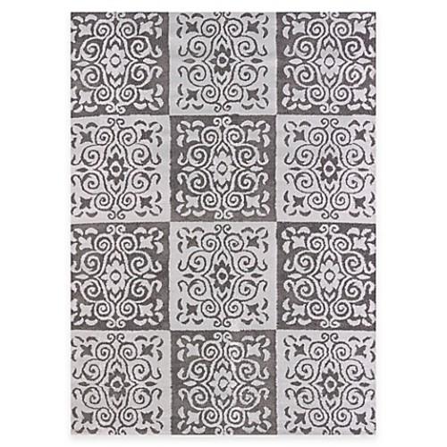 United Weavers Modern Texture Velvet Cube 5-Foot 3-Inch x 7-Foot 2-Inch Indoor/Outdoor Area Rug